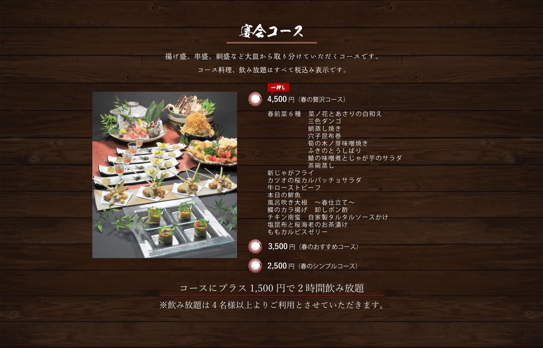 宴会コース詳細